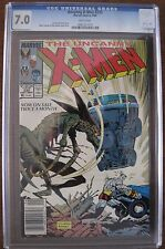 Uncanny X-Men #233 CGC 7.0 Universal Grade (1988) White Pages FROM A SMOKE FREE