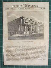 1834 WOODBLOCK PRINT ~ BOARD OF TRADE & PLANTATIONS