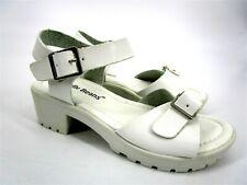 Jelly Beans Wablo Double Buckle Chunk Heel Sandal White Kids Girls Size US 11 S2