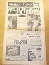 MELODY MAKER 1956 MAY 19 CHARLIE CHAPLIN LOUIS ARMSTRONG JAZZ BIG BAND SWING
