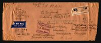 India 1939 Censor Cover to USA / Registered / Much Creasing - Z16252
