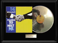 THE REPLACEMENTS PLEASE TO MEET ME  WHITE GOLD SILVER PLATINUM TONE RECORD LP