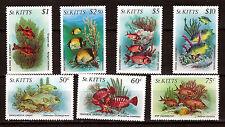St. KITTS 1983 poissons-fish éxotiques N°146 à152 côte 30$ 28m263t3