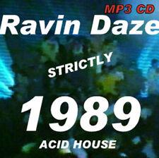 RAVE  ACID HOUSE  MP3 CD  OLD SKOOL  RAVIN DAZE 1989