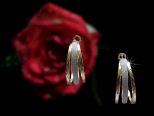 Hoop Earrings by Daisy & Eve at Evans Silver and Gold Tone 3 cm Diameter