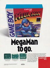 Original MEGA MAN Dr. Wily's Revenge Nintendo Game Boy video game print ad page