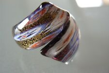Ring aus original Muranoglas Schmuck Murano Glas UNIKAT Handarbeit bunt Gr. 20