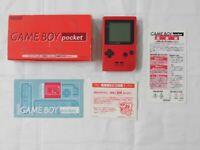 W4811 Nintendo Gameboy pocket console Red Japan GB w/box