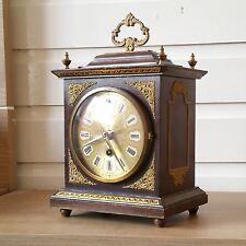 A BEAUTIFUL Art deco/antique wooden mantle PENDULUM clock