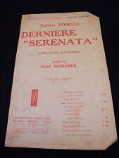 Partition Dernière Enrico Toselli serenata Music Sheet