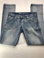 Womens Blue Asphalt Jeans Skinny Fit Light Wash Size 3 R Measure 28x30.5
