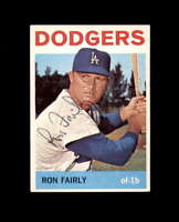 Ron Fairly Hand Signed 1964 Topps Los Angeles Dodgers Autograph