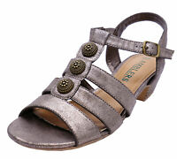 LADIES BRONZE AMBLERS CAVONE OPEN-TOE SUMMER SANDALS COMFY SHOES SIZES 4-8