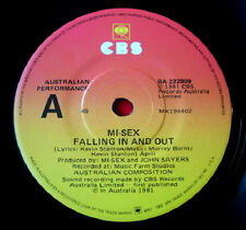 """Mi-Sex Falling In And Out/Round And Round 7""""PC AUS ORIG 1981 CBS BA 222809 VINYL"""