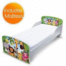 lit de bébé jungle MDF avec stockage sous-lit + matelas Complètement à ressort