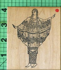 Artsy Fashion Lady rubber stamp by Rubber Poet