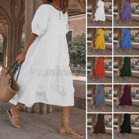 Women Summer Dress Party Club Prom Dresses Oversized Casual Shirt Dress Maxi Top