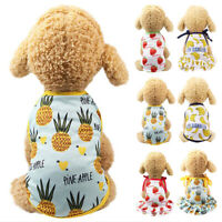 Pet Dog Cat Summer Clothes Dress Puppy Small Dog Vest T-Shirt Costume Apparel
