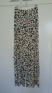 BOOHOO PANTS, LEOPARD PRINT WIDE LEG, SIZE UK 10, BRAND NEW WITH TAGS