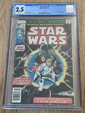 STAR WARS #1 MARVEL COMICS 1977 1ST PRINT NEWSSTAND CGC 2.5