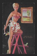 "K) 1945 Mutuscope Pin Up Glamour Girls Card ""How Do You Like My Frame"""
