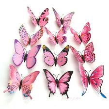 Butterfly 3D Wall Stickers / Wall Decors / Wall Art / Wall Decorations Pink