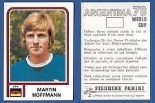 FIGURINA CALCIATORI PANINI ARGENTINA 78 - NUOVA/NEW N.355 HOFFMANN - DDR