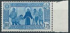 1931 REGNO S. ANTONIO 1,25 LIRE MNH ** - W131-4