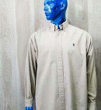 Ralph Lauren Blaire Khaki Long Sleeve Shirt-Sz L