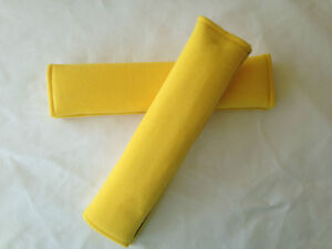 Yellow Soft Car Seat Belt Cover  Shoulder Harness Pads Auto Vehicle Padded