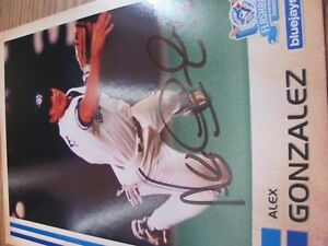 Alex Gonzalez 5 x 7 Toronto Blue Jays Autographed