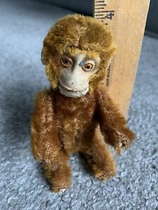 "RARE Antique Vintage 5"" Schuco Monkey Brown Mohair  Perfume Holder Buy Now NR"