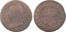 Directoire, cinq centimes Dupré grand module, An 7 Lille - 4