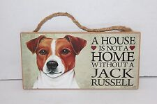 Love & Laughter A House Is Not A Home W/O A Jack Russell Wooden Dog Sign