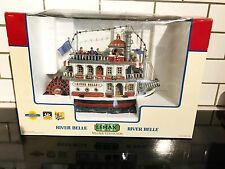 Rare LEMAX RIVER BELLE Musical Animated Paddle boat VILLAGE COLLECTION 45035
