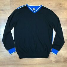 FootJoy Golf Jumper Sweater Black Blue Medium