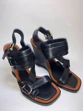 Derek Lam GILLIS Black Italian Leather Sandals Women size 6.5 B