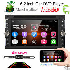 CAM+HD GPS Navigation Android 6.0 WIFI Double 2DIN Car Radio Stereo DVD Player