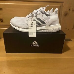 Adidas Women's UltraBoost 20 EE4394 White Grey Black Running Shoes Size 7