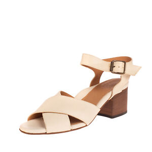 RRP €200 PANTANETTI Leather Ankle Strap Sandals EU37.5 UK4.5 US7.5 Made in Italy