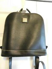 Dooney & Bourke Saffiano Leather Zip Pod Backpack BLACK A342297