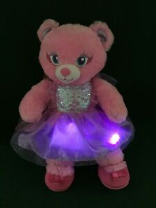 """BUILD A BEAR ~ PINK FAIRY FRIEND WITH LIGHT UP DRESS + SHOES 16"""" PLUSH SOFT TOY"""