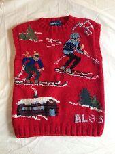 Vintage Polo Ralph Lauren Snow Ski Stadium Suicide 83 1983 Christmas Vest