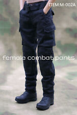 1/6 Female Soldier Combat Pants M-002A Black Working Trousers Can DIY Figure