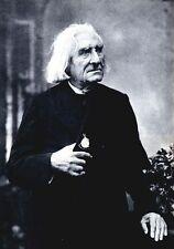 Franz Liszt Hungarian Composer 1884, 7x5 Inch Reprint Photo