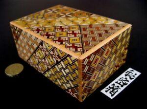 [Genuine] Japanese Puzzle Box - 4 Sun 21 Steps Yosegi Himitsu Bako Secret Box