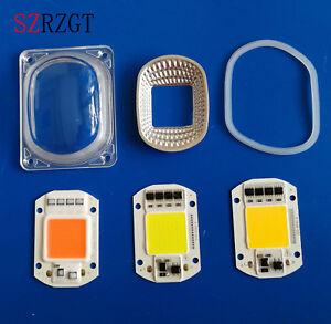 LED COB Chip+Lens Reflector 50W 30W 20W 220V/110V For LED Flood Light DIY