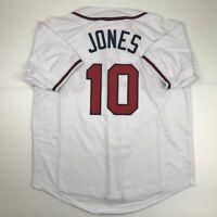 New CHIPPER JONES Atlanta White Custom Stitched Baseball Jersey Size Men's XL
