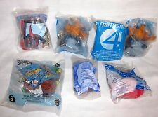 MC DONALDS HAPPY MEAL TOY LOT SET OF 8 SPIDERMAN FANTASTIC 4 STAR WARS RUG RATS