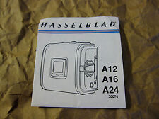 Vintage 1990 Hasselblad Roll Film Magazine A12/A16/A24 Manual(Printed in Sweden)